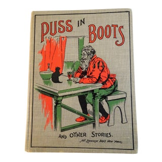 """1900 Antique """"Puss in Boots and Other Stories"""" Children's Book"""