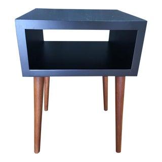 Mid-Century Modern Black Box End Table