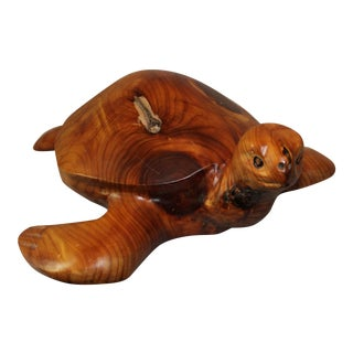 Don & Gis Rutledge Carved Wood Turtle