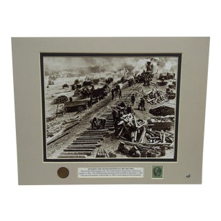 "Original Matted ""Building the Transcontinental Railroad (1863-1869)"" Multimedia Collage"