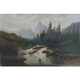 Rocky Mountain High Camp Oil Painting