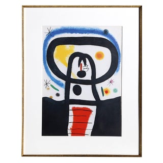 """Joan Miro """"Equinoxe From Indelible Miro"""" Offset Lithograph"""
