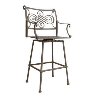 Woodard Landgrave Cast Classics Aluminum Outdoor Bar Stool