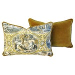 Image of Custom Scalamandre Cupido Toile Pillows - A Pair