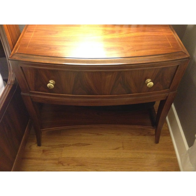 Bob Mackie Signature Bowed Rosewood Nightstand - Image 3 of 9