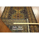 "Image of Navy & Tan Balouch Runner Rug - 2'11"" x 9'9"""