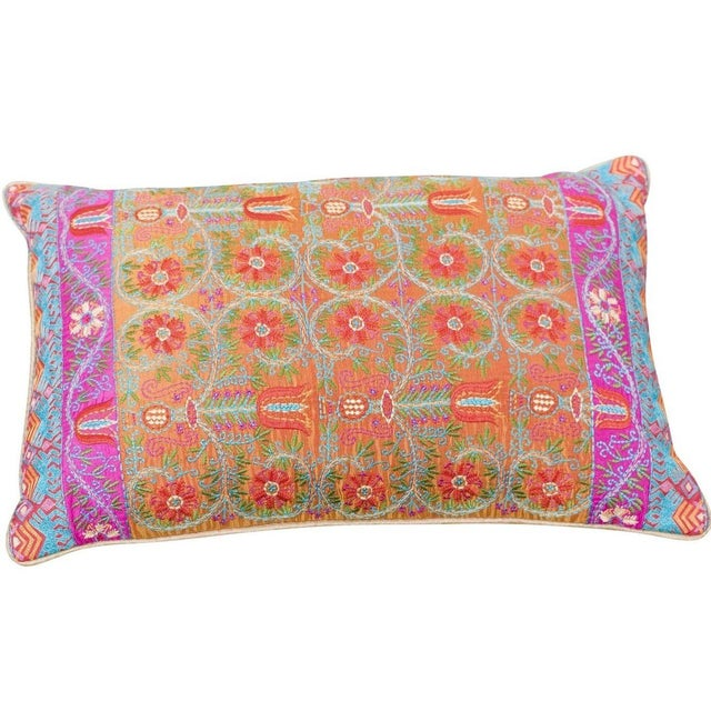 Embroidered Silk Accent Pillow Chairish