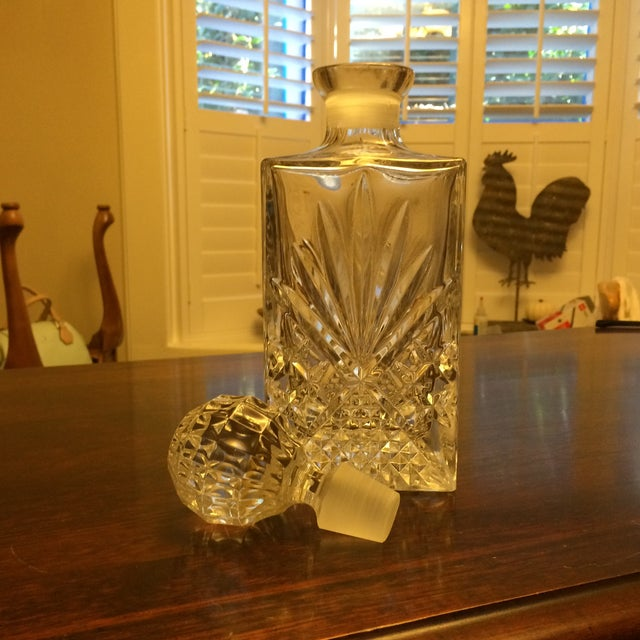 Square Heavy Cut Crystal Decanter - Image 4 of 4