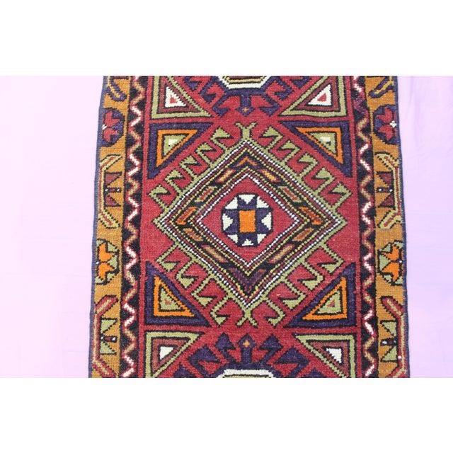 "Turkish Oushak Doormat Rug - 1'9 X 3'9"" - Image 4 of 8"