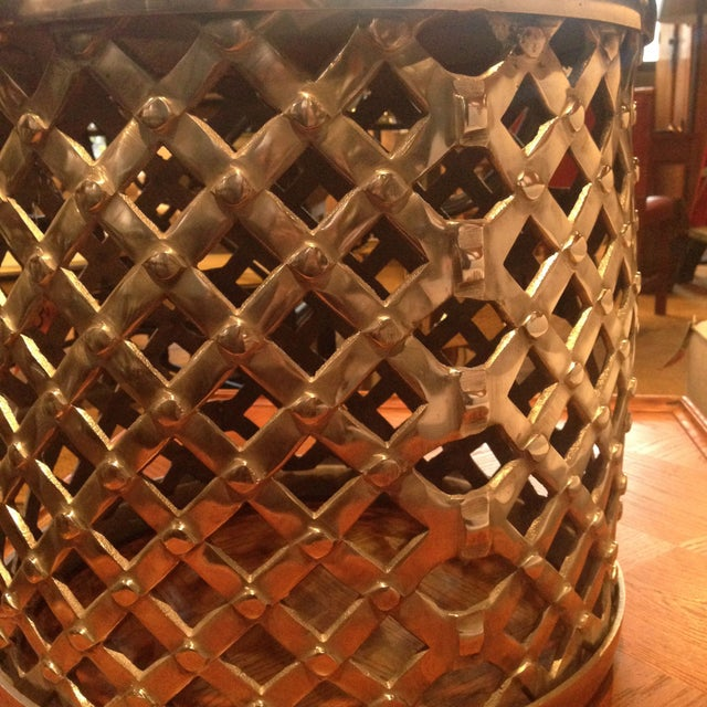 Woven Chrome Garden Stool - Image 3 of 3