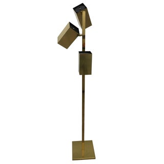 Koch & Lowry Three-Light Brass Floor Lamp