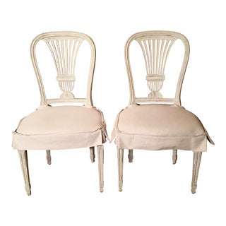 Swedish Gustavian Dining Chairs - A Pair