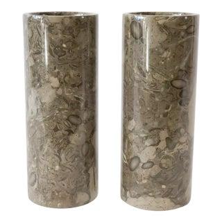 Stone Vases - a Pair