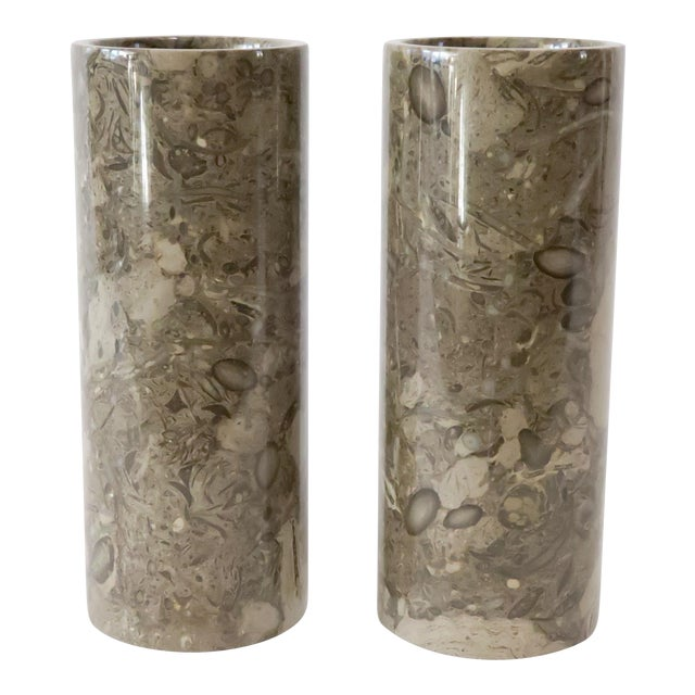 Stone Vases - a Pair - Image 1 of 5