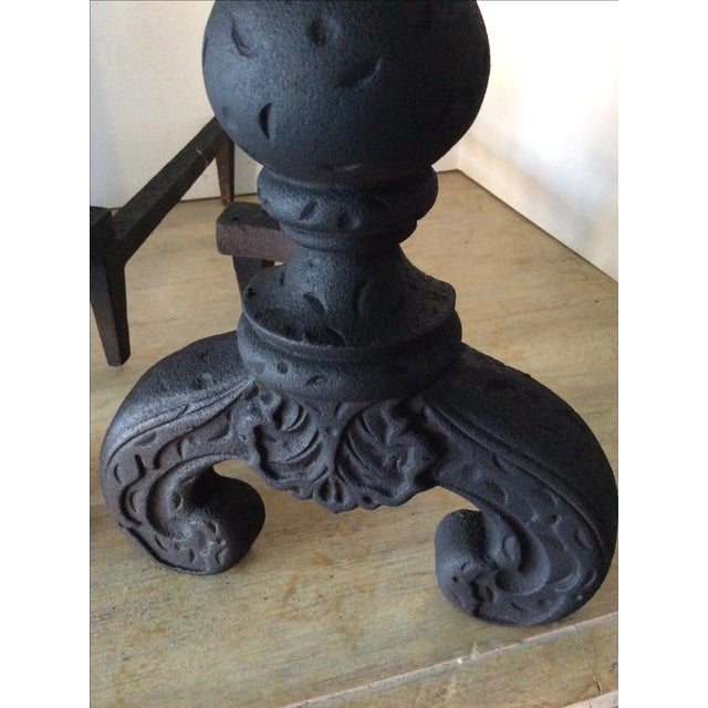 Vintage Black Andirons - A Pair - Image 5 of 5