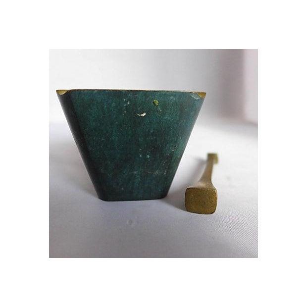 Mid-Century Brass Pipe Smoker's Ashtray - Image 7 of 7