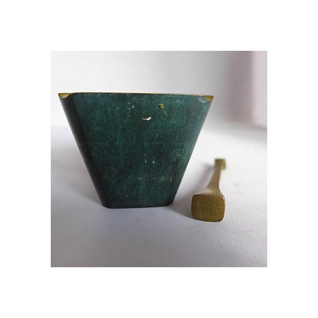 Image of Mid-Century Brass Pipe Smoker's Ashtray