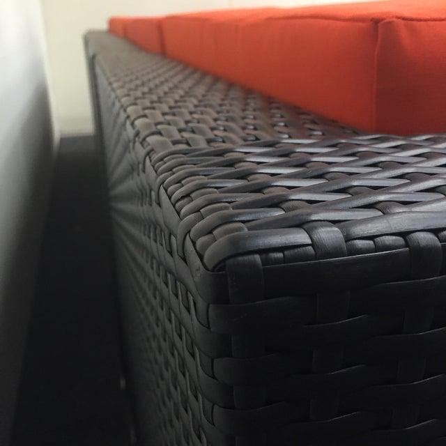 Orange Wicker Patio Set - Image 5 of 10