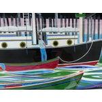 Image of Mid-Century Modern Nautical Gouache Painting