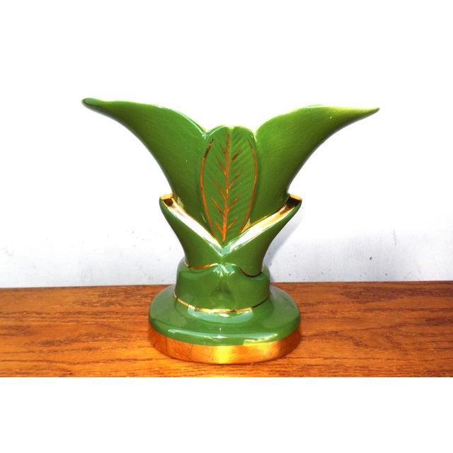 Image of Vintage Ceramic Palm Plant Accent Lamp