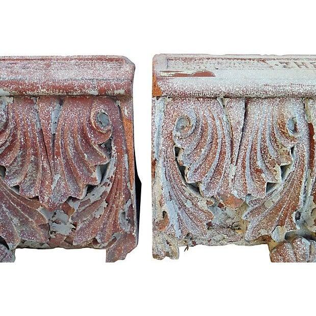 Antique Terra Cotta Corbels - A Pair - Image 4 of 7