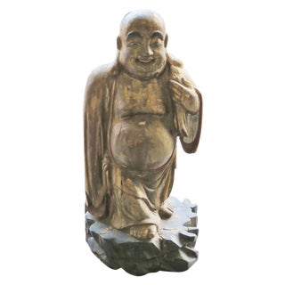 Antique Carved & Painted Buddha