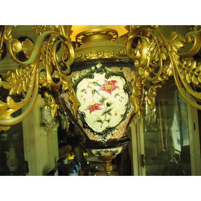 French Traditional Victorian Hall Chandelier 19th Century - Image 7 of 8