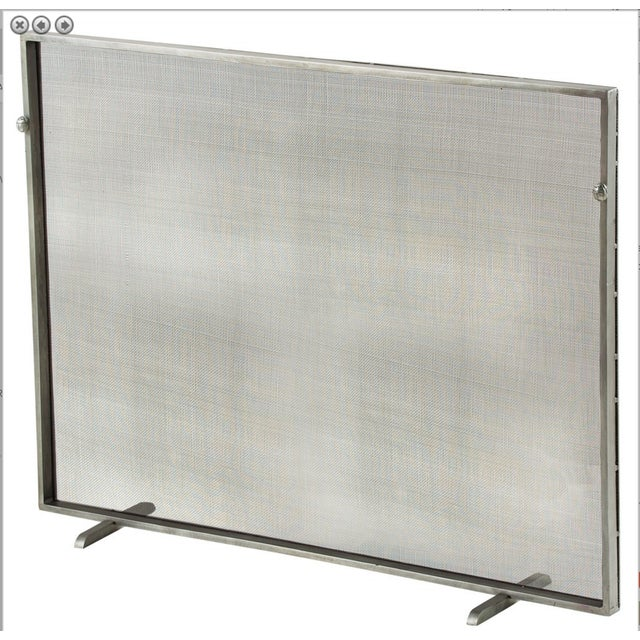 New Antique Zinc Finish Fire Screen - Image 2 of 4