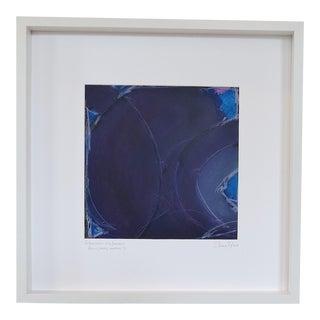 Atmospheres, Blue/Amethyst Framed Painting