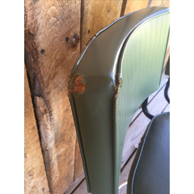 Mid-Century Bar Stools in Jade - A Pair - Image 4 of 11