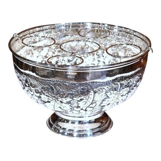 French Silver Plated Repousse Champagne Cooler