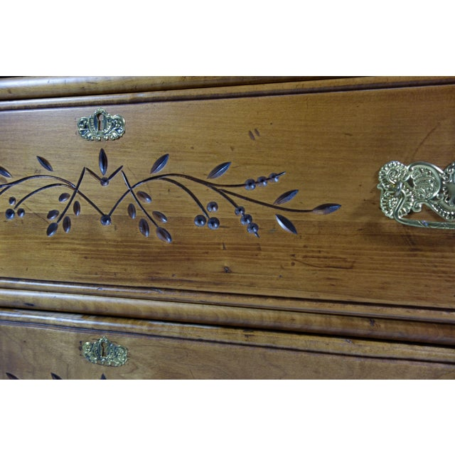 Wooden Dresser With Floral Inlay - Image 4 of 5