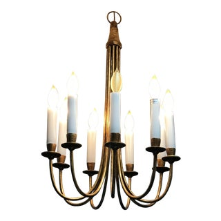 Gabby Eight Branch Gold Leaf Chandelier