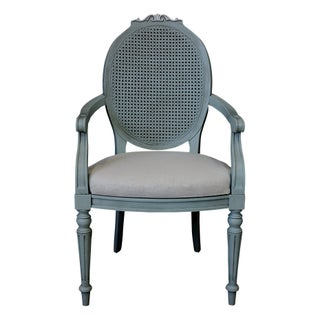 French Neoclassic Pale Blue Side Chair