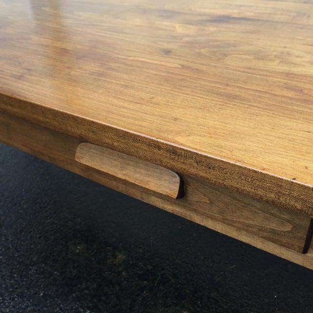 Large Vintage Modern 2-Drawer Desk - Image 8 of 11