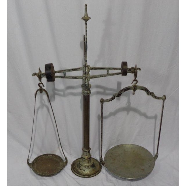 Antique French Industrial Butcher Scale - Image 2 of 8