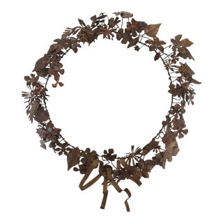 Victorian Era Copper Christmas Wreath