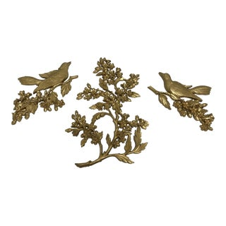 Syroco Mid-Century Gold Wall Hangings - Set of 3