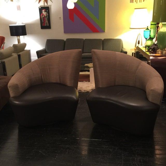"Vladimir Kagan ""Bilbao"" Swivel Chairs - a Pair - Image 2 of 8"