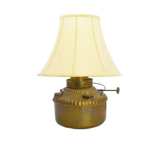 Converted Antique Brass Oil Lamp