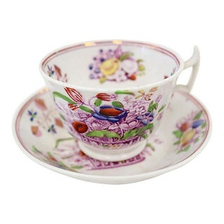 Antique English Lustre Cup & Saucer