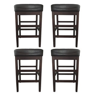 Leather Bar Stools - Set of 4