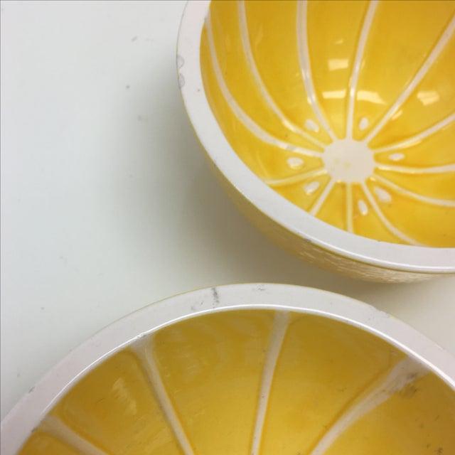 Vintage Yellow Grapefruit Bowls - Set of 4 - Image 5 of 10