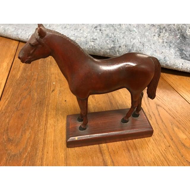 Vintage Carved Wooden Horse - Image 2 of 3