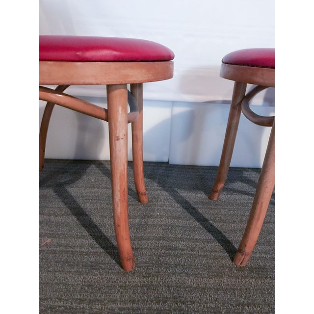 Thonet Style Bentwood Upholstered Chairs - a Pair - Image 7 of 9