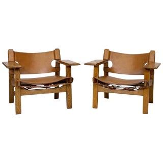 "Pair of Børge Mogensen ""Spanish"" Chairs"