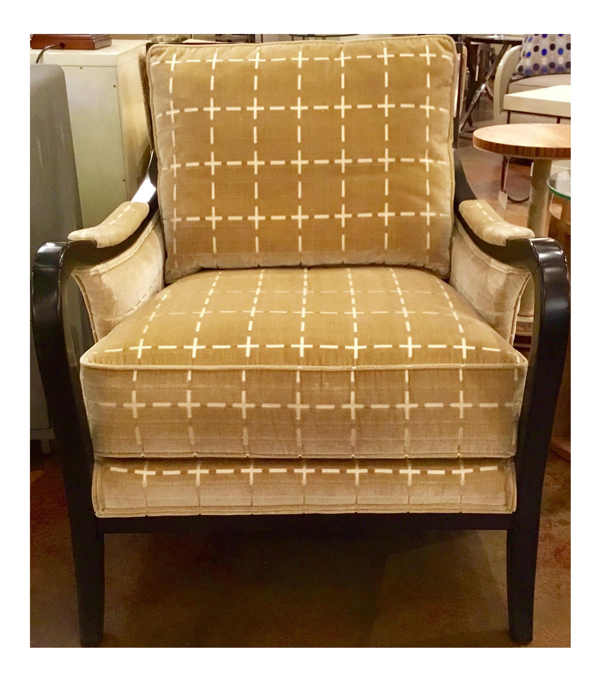Ferguson Copland Cut Velvet Goldedn Club Chair