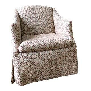 Geometric Pattern Swivel Club Chair