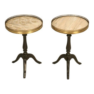 Marble Top French Wine Tables - A Pair