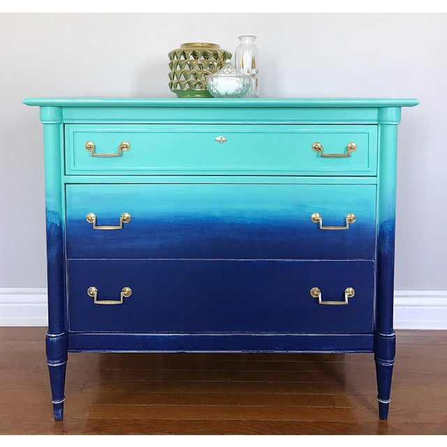 Turquoise & Navy Ombré Dresser - Image 5 of 8